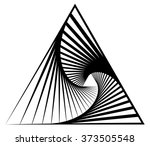 abstract shape with vortex ... | Shutterstock .eps vector #373505548
