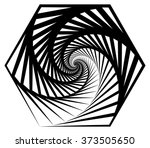 abstract shape with vortex ... | Shutterstock .eps vector #373505650