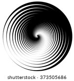 abstract shape with vortex ... | Shutterstock .eps vector #373505686