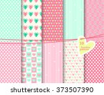 heart  seamless patterns.... | Shutterstock .eps vector #373507390