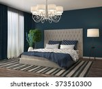bedroom interior. 3d... | Shutterstock . vector #373510300