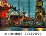 shipyard industry   ship under... | Shutterstock . vector #373514530
