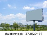 billboard with empty screen ... | Shutterstock . vector #373520494