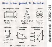 Hand Drawn Geometric Formulas