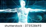 biotechnology or biology... | Shutterstock . vector #373528693