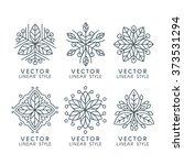 vector set of linear design... | Shutterstock .eps vector #373531294