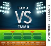 cricket match schedule between... | Shutterstock .eps vector #373533148