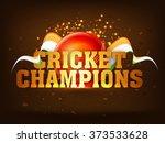 glossy golden text cricket... | Shutterstock .eps vector #373533628