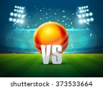 cricket match schedule concept... | Shutterstock .eps vector #373533664