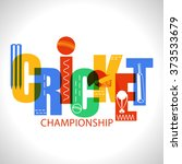 creative colorful text cricket... | Shutterstock .eps vector #373533679