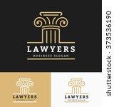 law firms logo template. vector ... | Shutterstock .eps vector #373536190