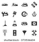 car shop icon set for web sites ... | Shutterstock .eps vector #373536604