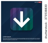 vector down arrow icon. vector... | Shutterstock .eps vector #373538830