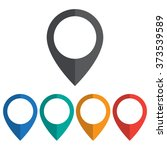location icon | Shutterstock .eps vector #373539589