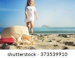 shells on sandy beach | Shutterstock . vector #373539910