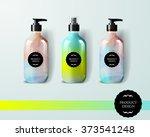 mockup template for branding... | Shutterstock .eps vector #373541248