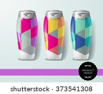 mockup template for branding... | Shutterstock .eps vector #373541308