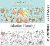 doodle line design of web... | Shutterstock .eps vector #373542199