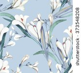 seamless pattern with crocosmia ... | Shutterstock . vector #373548208