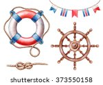 nautical elements  rigging... | Shutterstock . vector #373550158