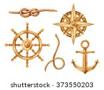 Gold Nautical Elements  Riggin...