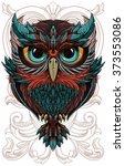 Stock vector owl 373553086