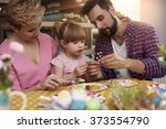 spending easter time with... | Shutterstock . vector #373554790