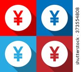 yen sign icon set vector eps10  ...