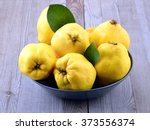 Quince. Ripe Yellow Autumn...