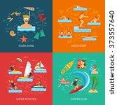 water sport 2x2 flat design... | Shutterstock .eps vector #373557640