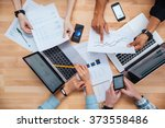 team of colleagues working for... | Shutterstock . vector #373558486
