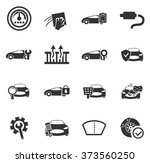 car shop icon set for web sites ... | Shutterstock .eps vector #373560250