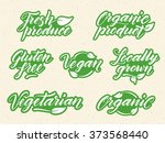 hand drawn healthy food... | Shutterstock .eps vector #373568440