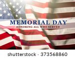 Stock photo text memorial day on american flag background 373568860
