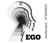 human ego vector illustration.... | Shutterstock .eps vector #373569823