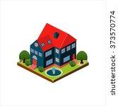 isometric icon representing... | Shutterstock .eps vector #373570774