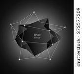 bright vector polygonal label... | Shutterstock .eps vector #373577209