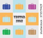 travel bag icon   Shutterstock .eps vector #373579429