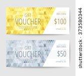 gift voucher templates | Shutterstock .eps vector #373580344