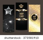 set of shiny vip cards | Shutterstock .eps vector #373581910