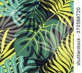 beautiful seamless tropical... | Shutterstock .eps vector #373588720