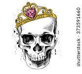 skull with a crown. vector...