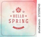 spring vector typographic... | Shutterstock .eps vector #373598743