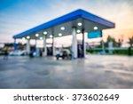 blur image of twilight gas...   Shutterstock . vector #373602649
