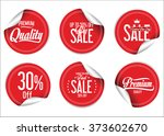 paper sale stickers collection | Shutterstock .eps vector #373602670