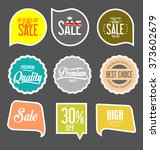 paper sale stickers collection | Shutterstock .eps vector #373602679