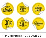 paper sale stickers collection | Shutterstock .eps vector #373602688
