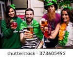 Friends Celebrating St Patricks ...