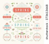 Spring Typographic Design Set....