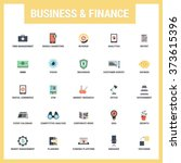 business and finance icon set.... | Shutterstock .eps vector #373615396